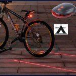 عکس چراغ دوچرخه لیزر دار