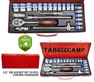 جعبه بکس 24 پارچه 1/2 اینچ کاربردی و باکیفیت