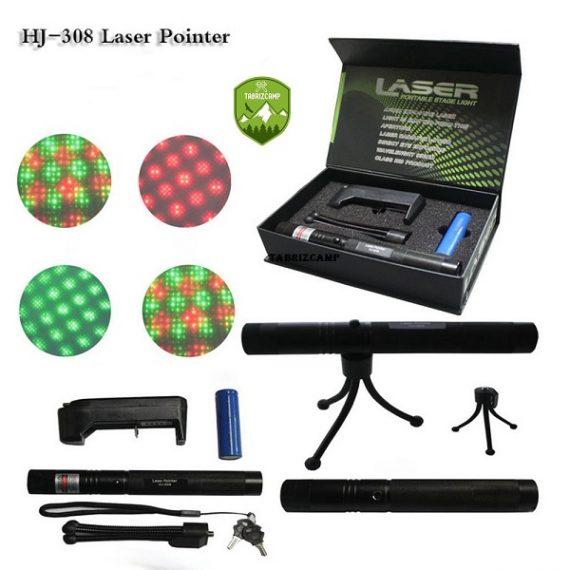 لیزر پوینتر دو رنگ سبز و قرمز HJ-308