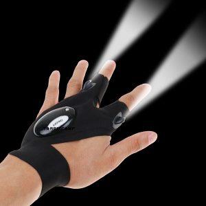 دستکش تاکتیکال چراغ دار دو انگشتی