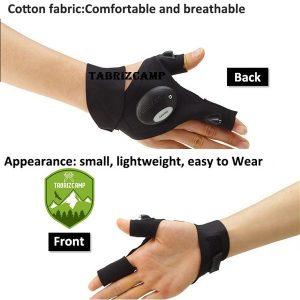 دستکش چراغ دار تاکتیکال