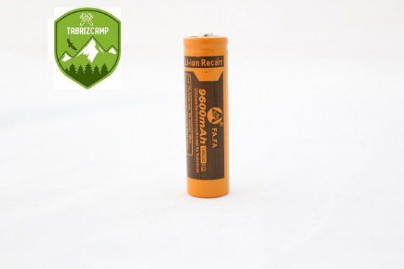 باتری قابل شارژ چراغ قوه مدل FA18650