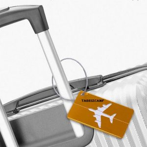Colorful Luggage Tag Aluminum Alloy + Stainless Steel Checked Boarding Card Airplane Pattern Tags